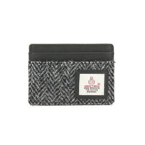 Grey Herringbone Card Holder