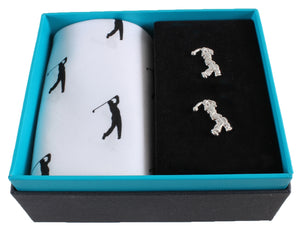 Golf Handkerchief & Cufflink set