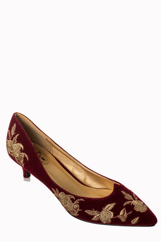 Magic Dance Shoes - Burgundy - Bowler Vintage