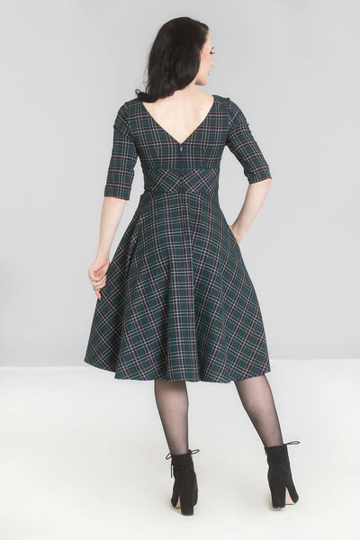 Peebles Tartan Dress - Green
