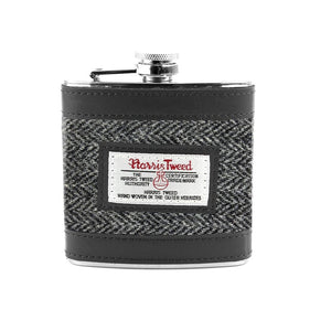 Grey Herringbone Hip Flask Seasonal