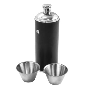 Cylinder Hip Flask with cups