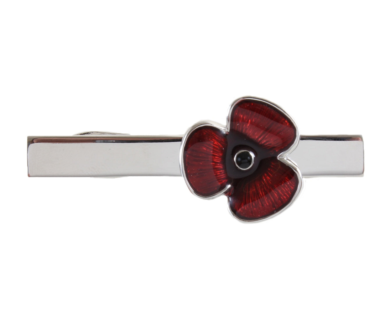 Poppy Crocodile Clip Tie Slide