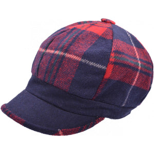 PATCHED WOMENS NEWSBOY CAP