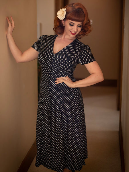 RILEY MINI POLKA FLARED DRESS