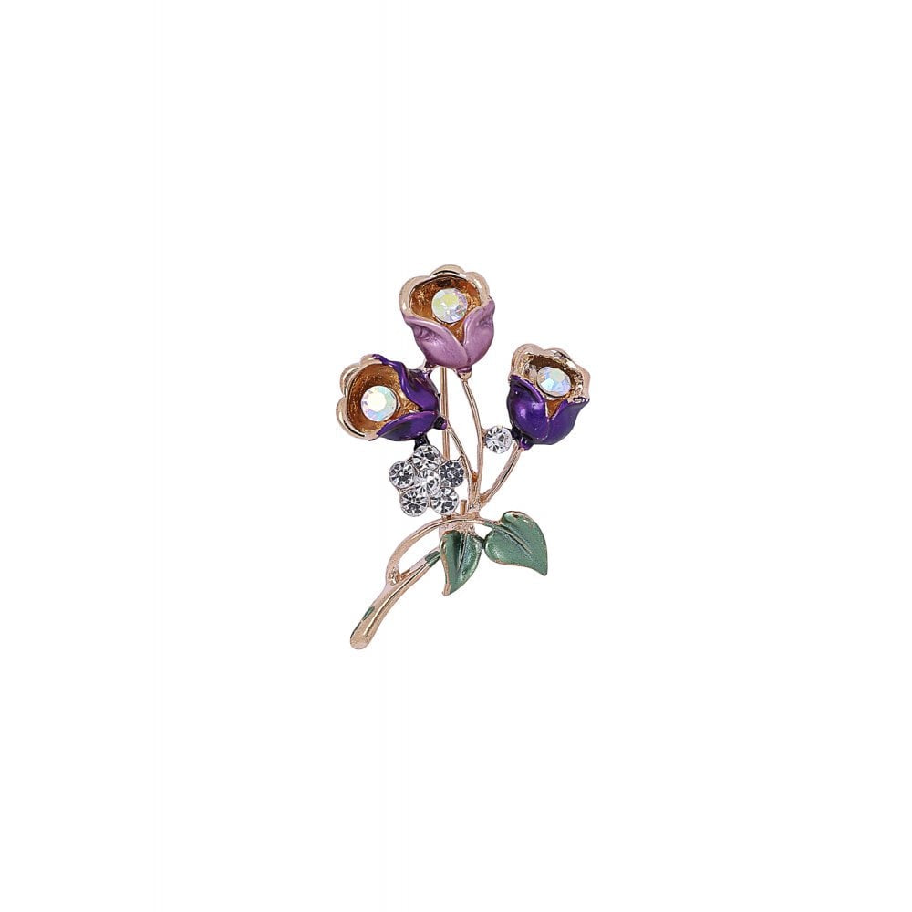 LIZABETH FLOWER BROOCH