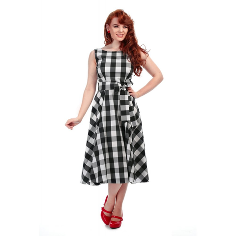 Frances Gingham Swing Dress - Bowler Vintage