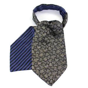 Black Polyester Reversible Cravat