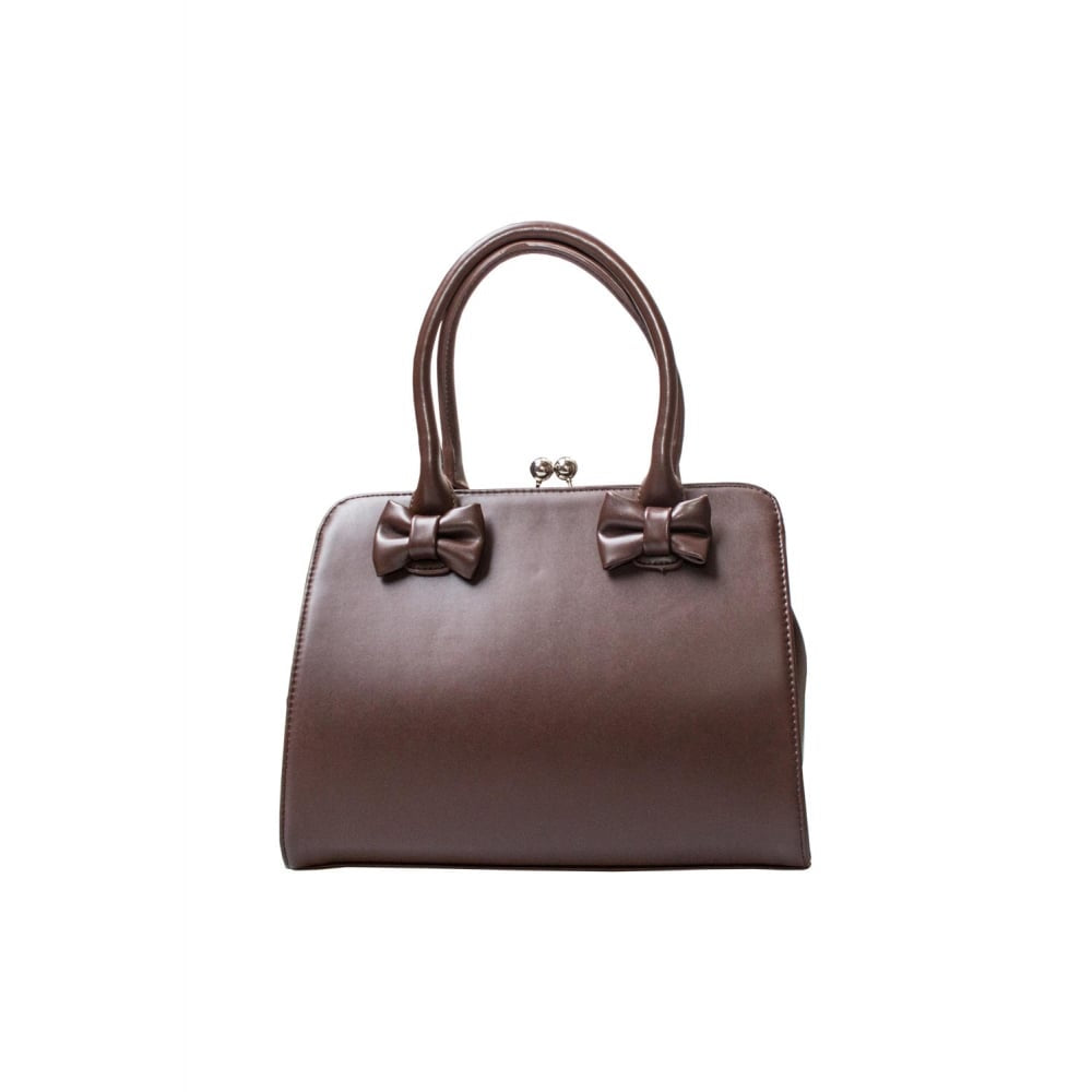 Jessica Bow Bag - Brown - Bowler Vintage