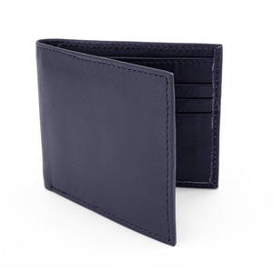 Navy Leather Wallet RFiD