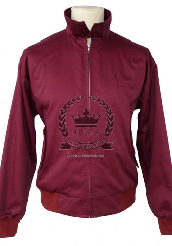 Harrington Jacket  Burgundy Was £48 Now £40