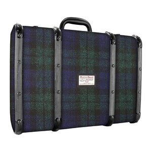 Dark WoodBlack Watch Covered Suitcase