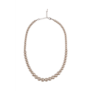 Susan Faux Pearl Necklace - Champagne