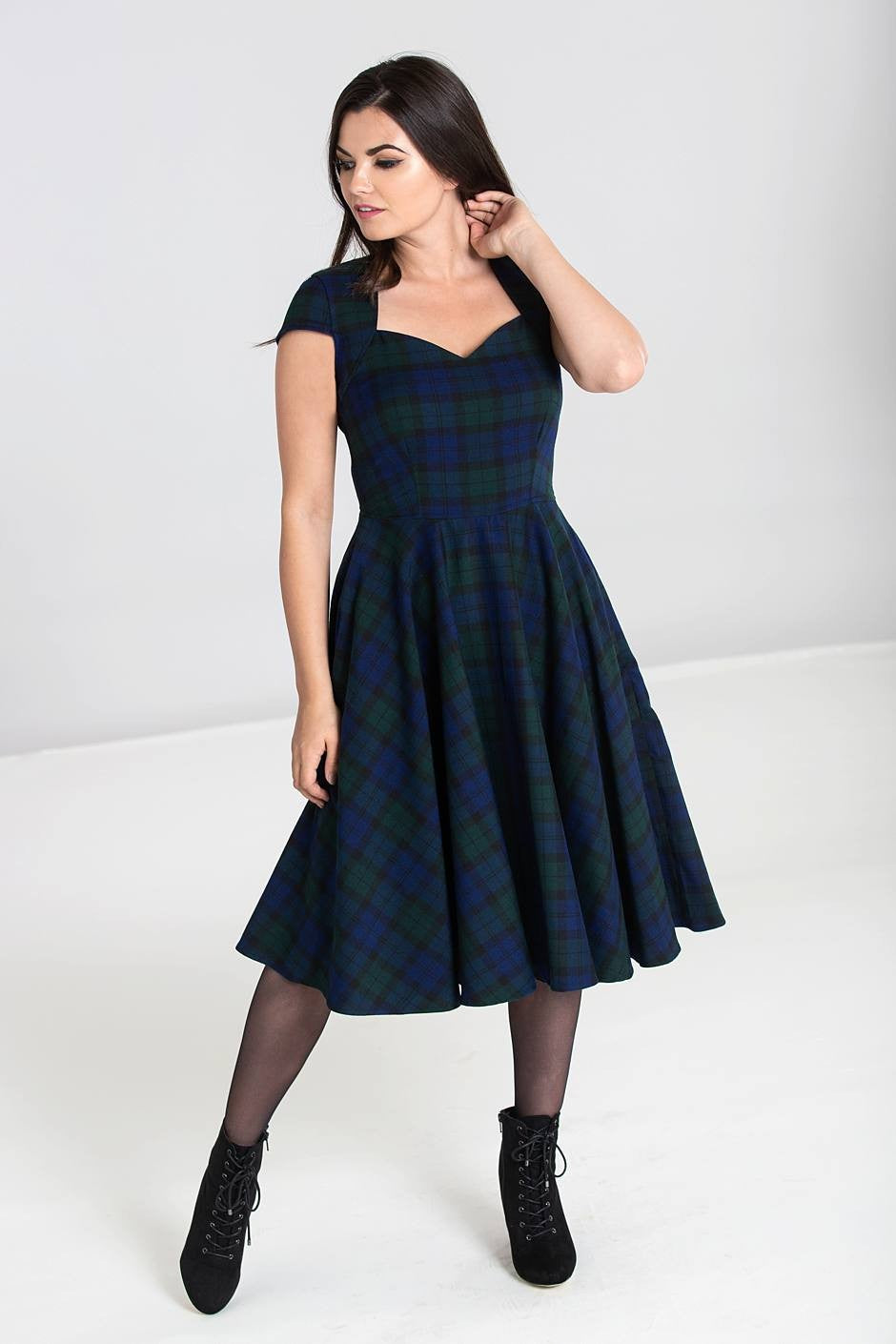 Aberdeen Dublin Tartan 50s Dress