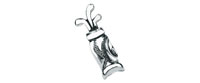 Golf Bag Tie Tac - Bowler Vintage