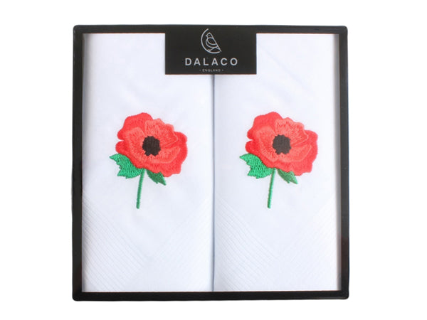 Embroidered  Cotton Handkerchiefs - Bowler Vintage