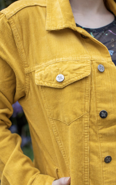 Retro 60s style Cord Western Jacket - Mustard