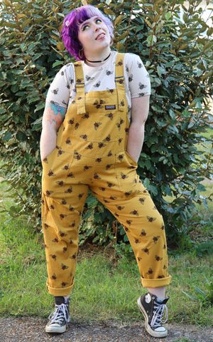 Unisex Bee Twill Dungarees