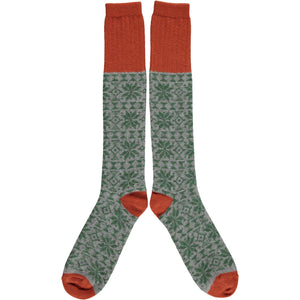 Men's Lambswool Knee Socks