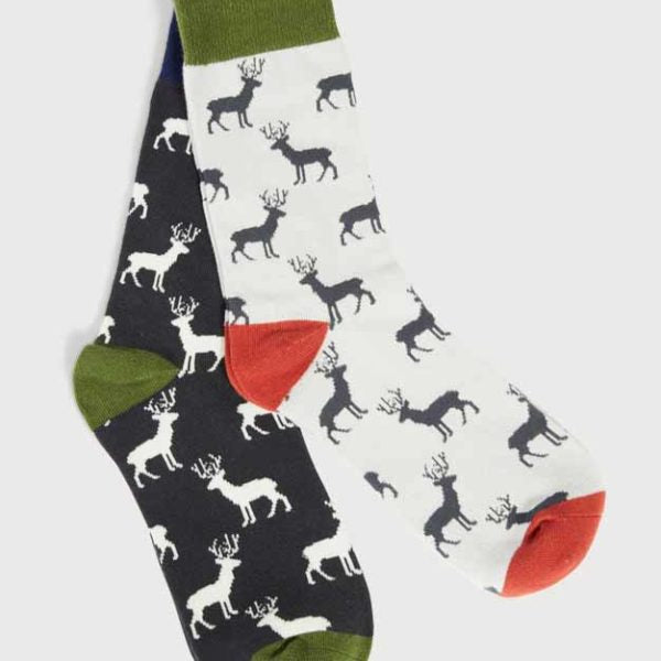 Men's Stag Socks - Navy