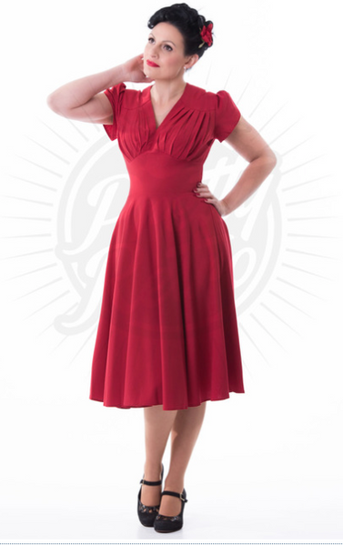 Betty Swing Dress - Red