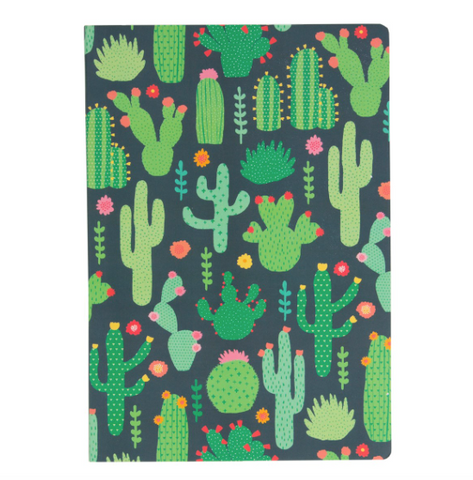 Colourful Cactus A5 Notebook - Bowler Vintage
