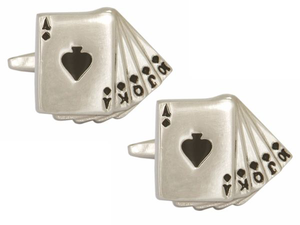 Spades Cards Cufflinks
