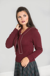 Connie Jumper - Wine - Bowler Vintage