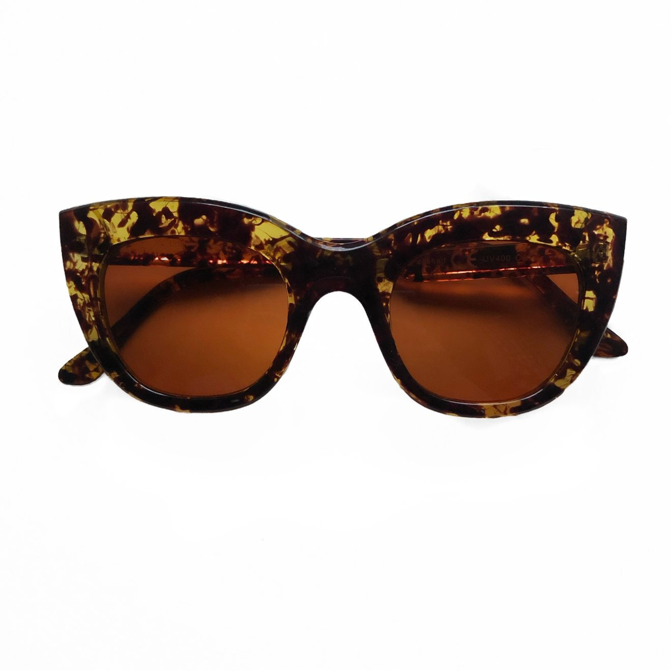 Ava Cat Eye Sunglasses - Brown