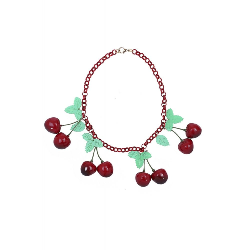VINTAGE 40S CHERRIES NECKLACE