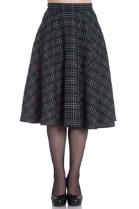 Peebles Tartan 50's Skirt - Green