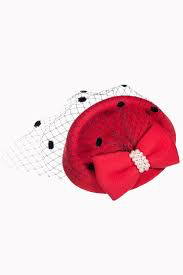 Judy Pillbox Hat - Red - Bowler Vintage