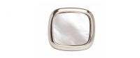 Mother of Pearl Tie Tac - Rhodium plated - Bowler Vintage