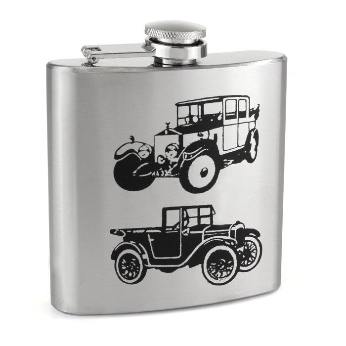 Vintage Car Hip Flask