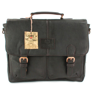 The Lyndon Brown Leather Briefcase