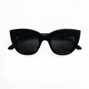 Ava Cat Eye Sunglasses - Black