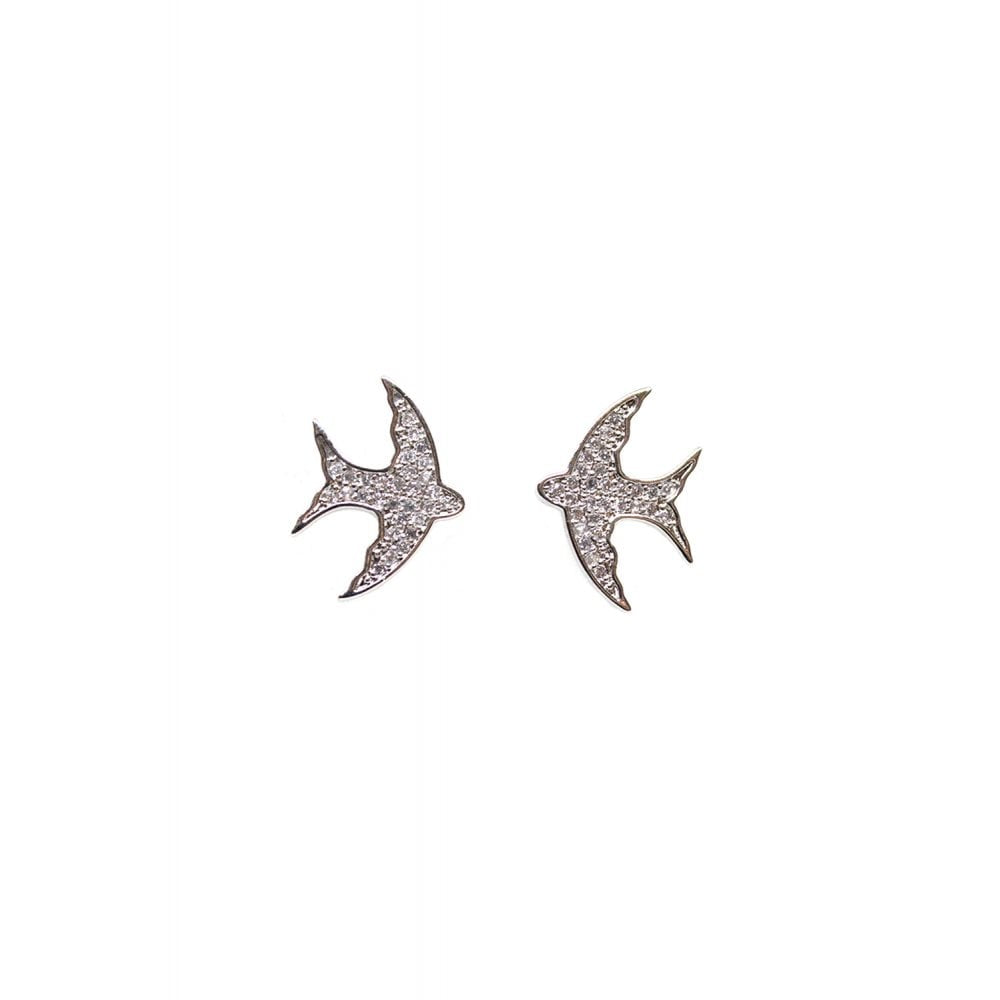 Charming Swallow Studs - Bowler Vintage