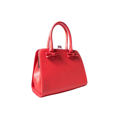 Jessica Bow Bag - Red - Bowler Vintage