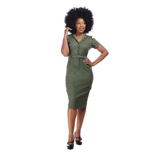 Caterina Pencil Dress Olive