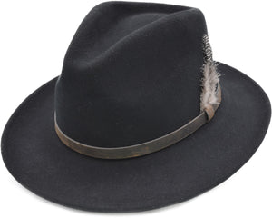 Fedora with Strap Black