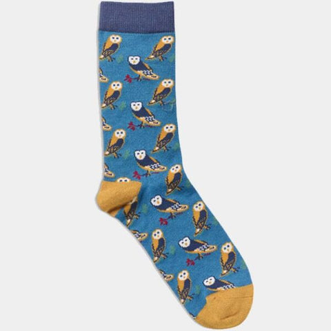 Women's  Owl Socks - Teal