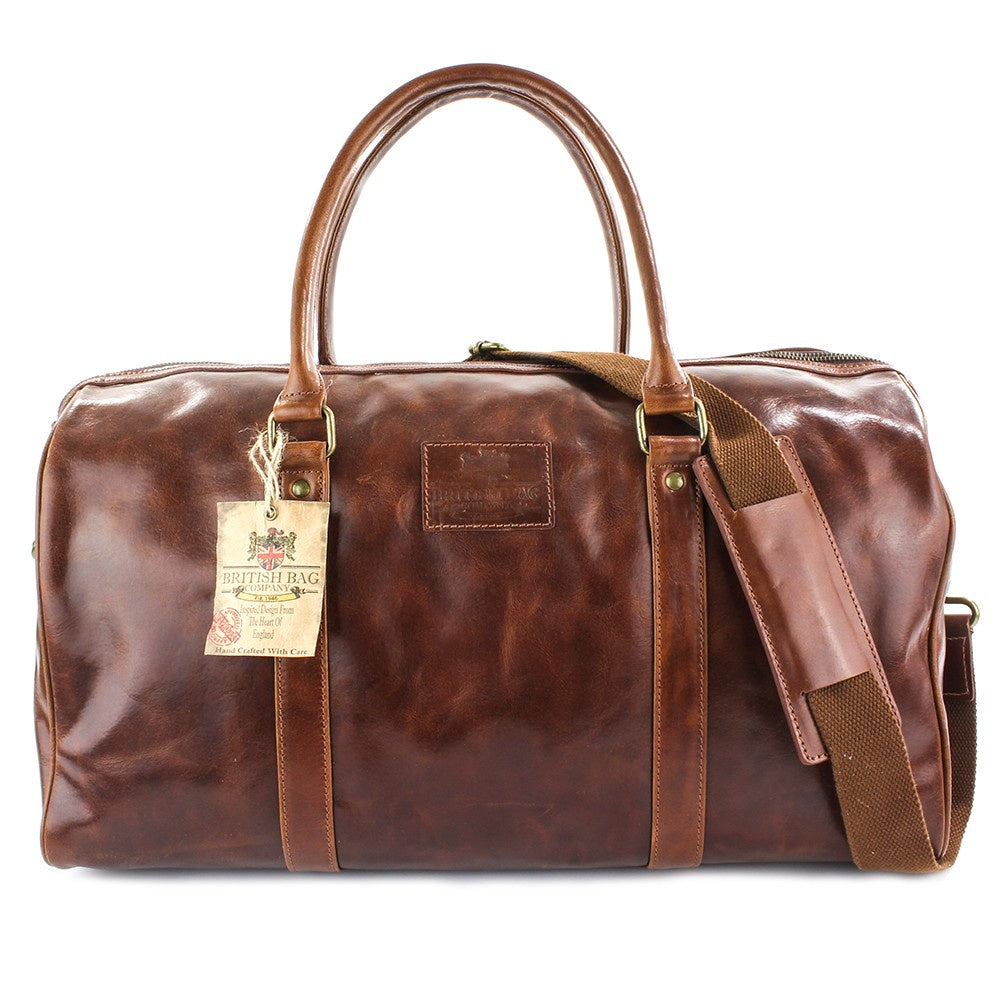 The Oakham Tan Leather Travel Holdall
