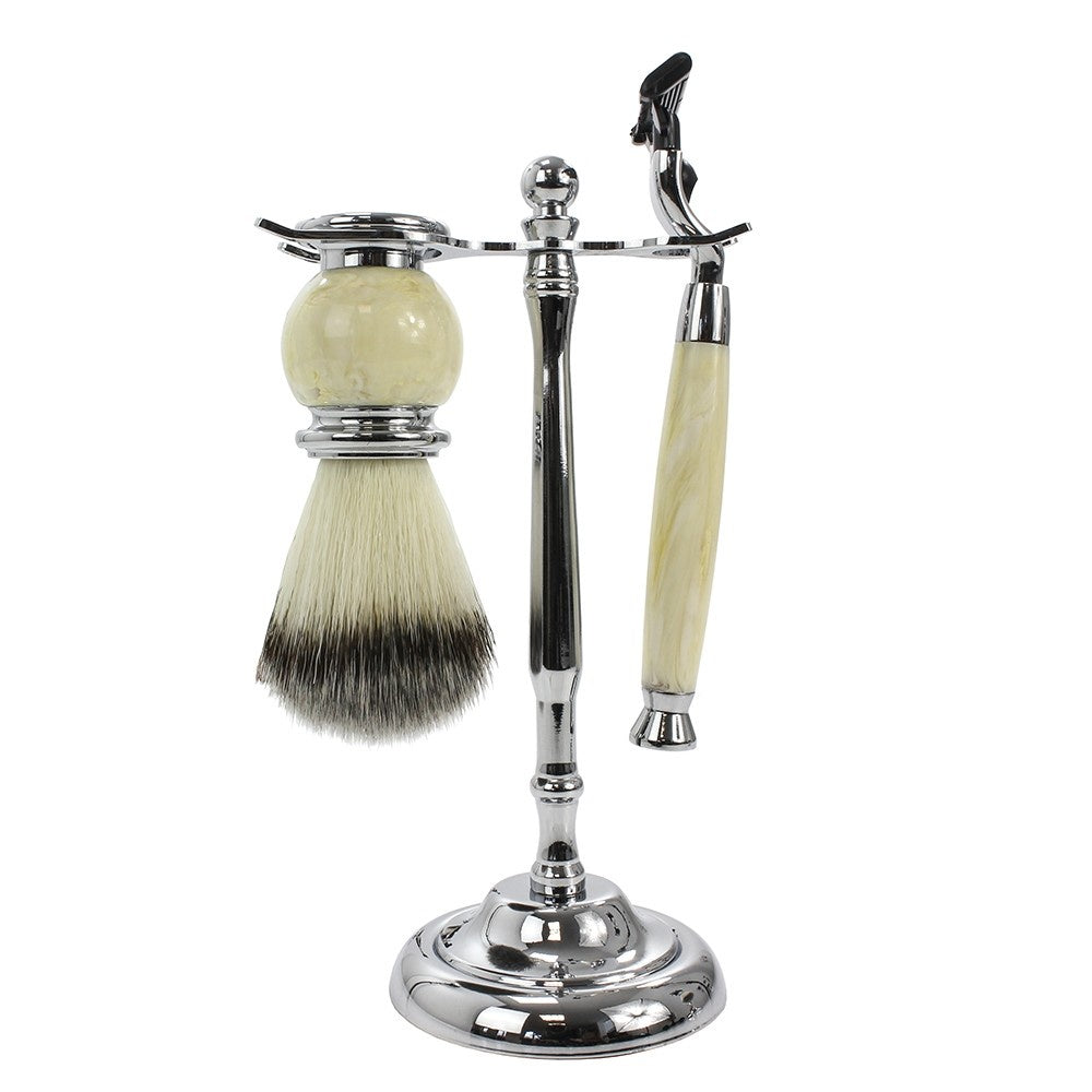 Cream Shaving Set