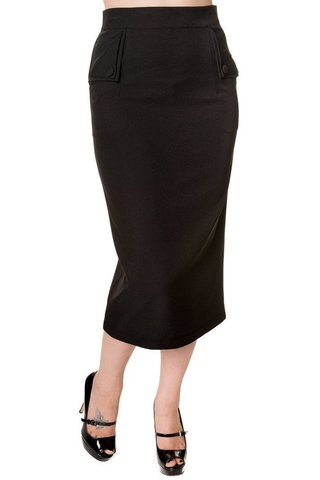 Longline Pencil Skirt - Bowler Vintage