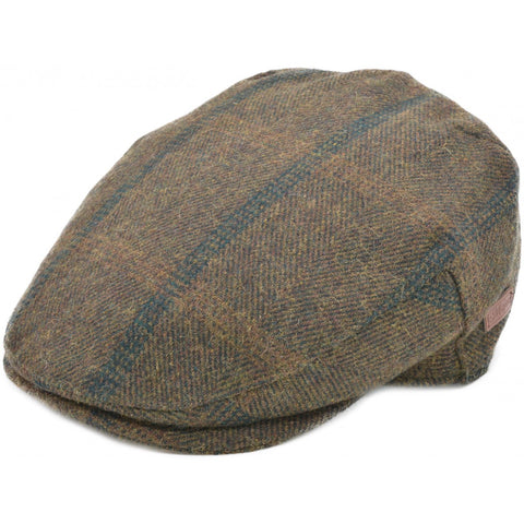 Brown Tweed Flat Cap - Bowler Vintage