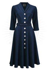 Shirtwaister Dress - Navy