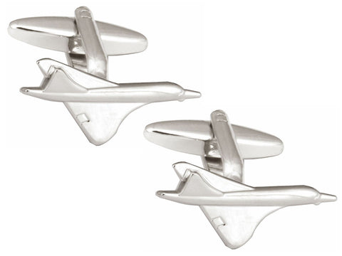 Concorde Rhodium Plated Cufflinks
