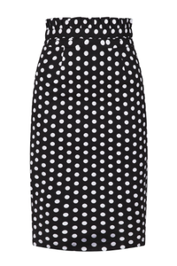POLKA FRILL PENCIL SKIRT