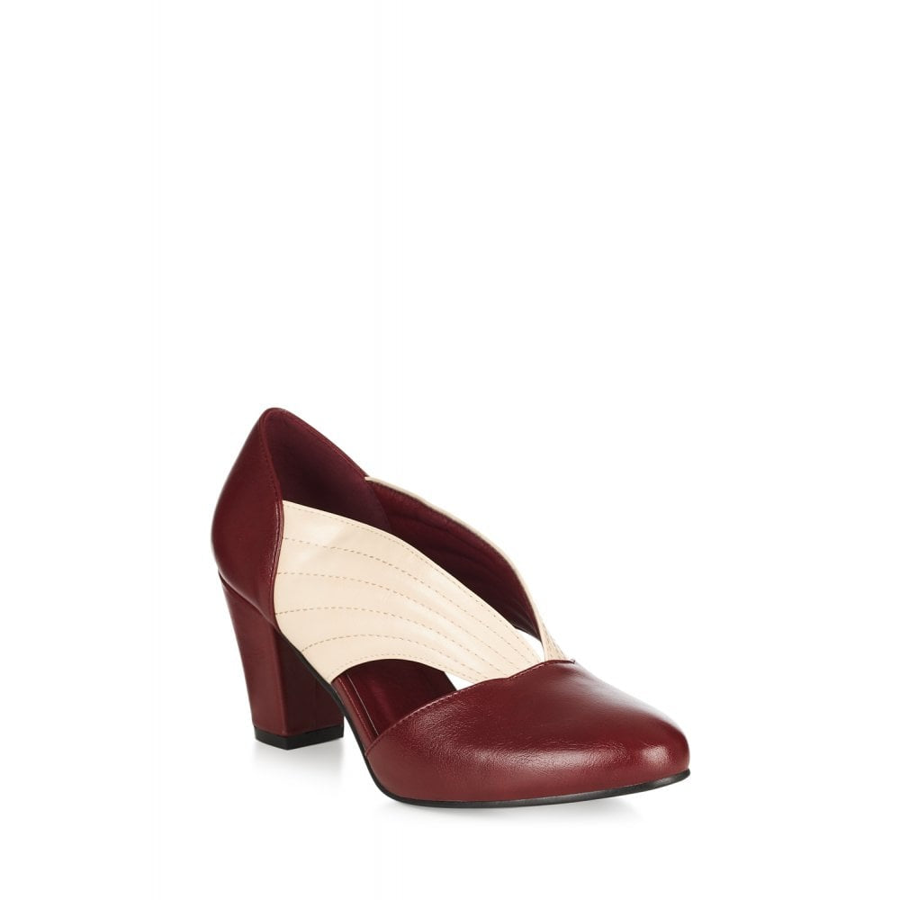 Tanya Shoes Burgundy/Ivory