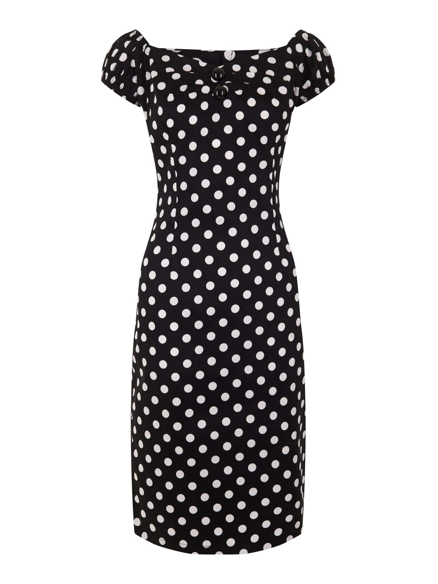 Dolores Polka Dot Pencil Dress